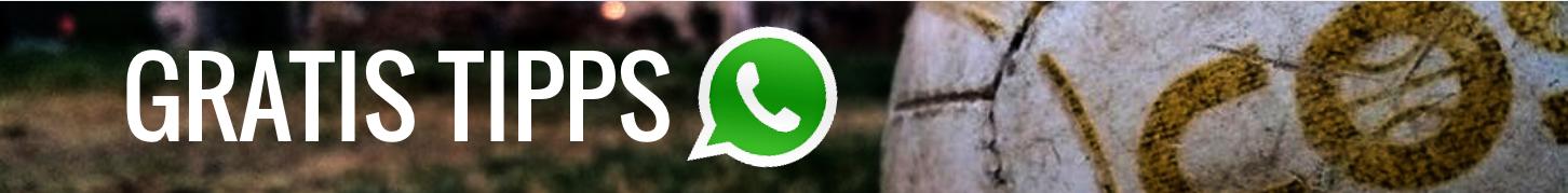 Erhalte die besten Sportwetten Profi Tipps direkt auf dein Handy. Jetzt KOSTENLOS in unserem exklusiven WhatsApp-Service anmelden und von unseren aufwendigen Wettvorhersagen profitieren.