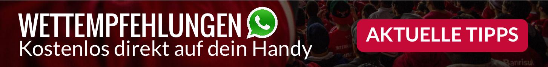 Die besten Fußball Wettempfehlungen von unseren erfahrenen Experten. Nutze unseren exklusiven WhatsApp-Service und trete KOSTENLOS unserer WhatsApp-Gruppe für die besten Tipps und Analysen bei. Aktuelle Wettempfehlungen direkt auf dein Handy.